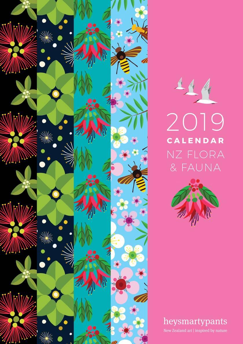 2019 Calendar – NZ Flora and Fauna