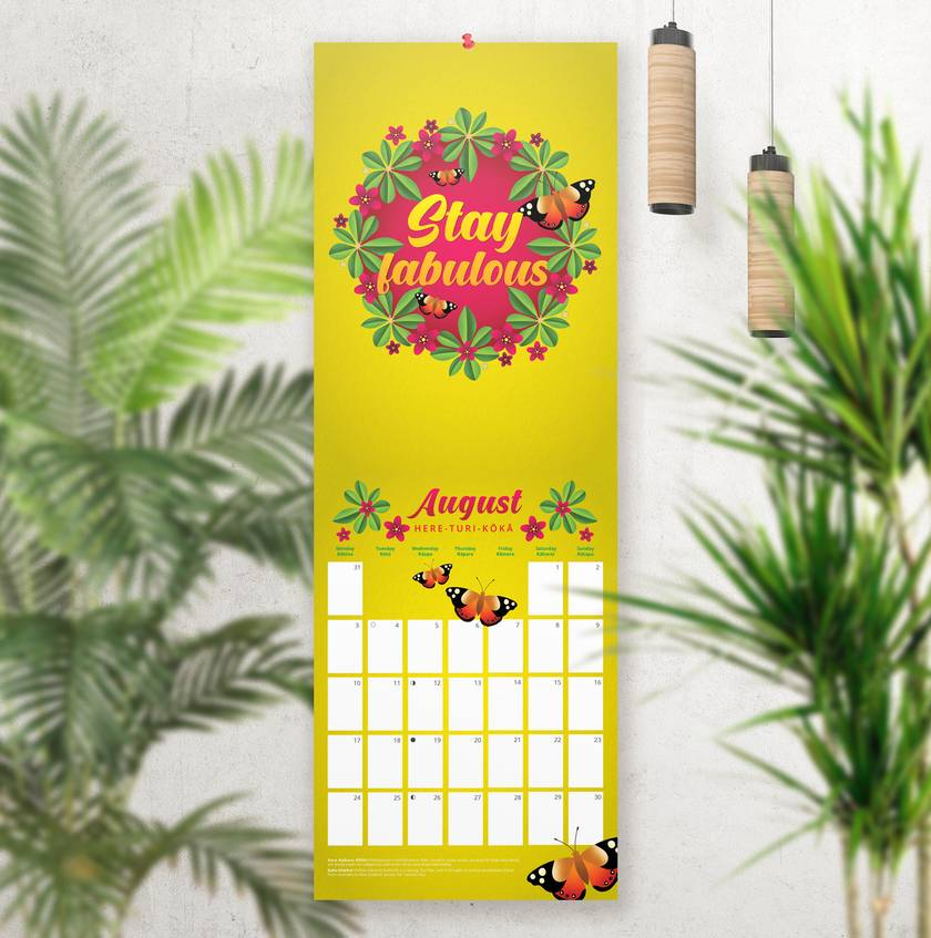 2020 A4 Calendar – NZ Flora and Fauna