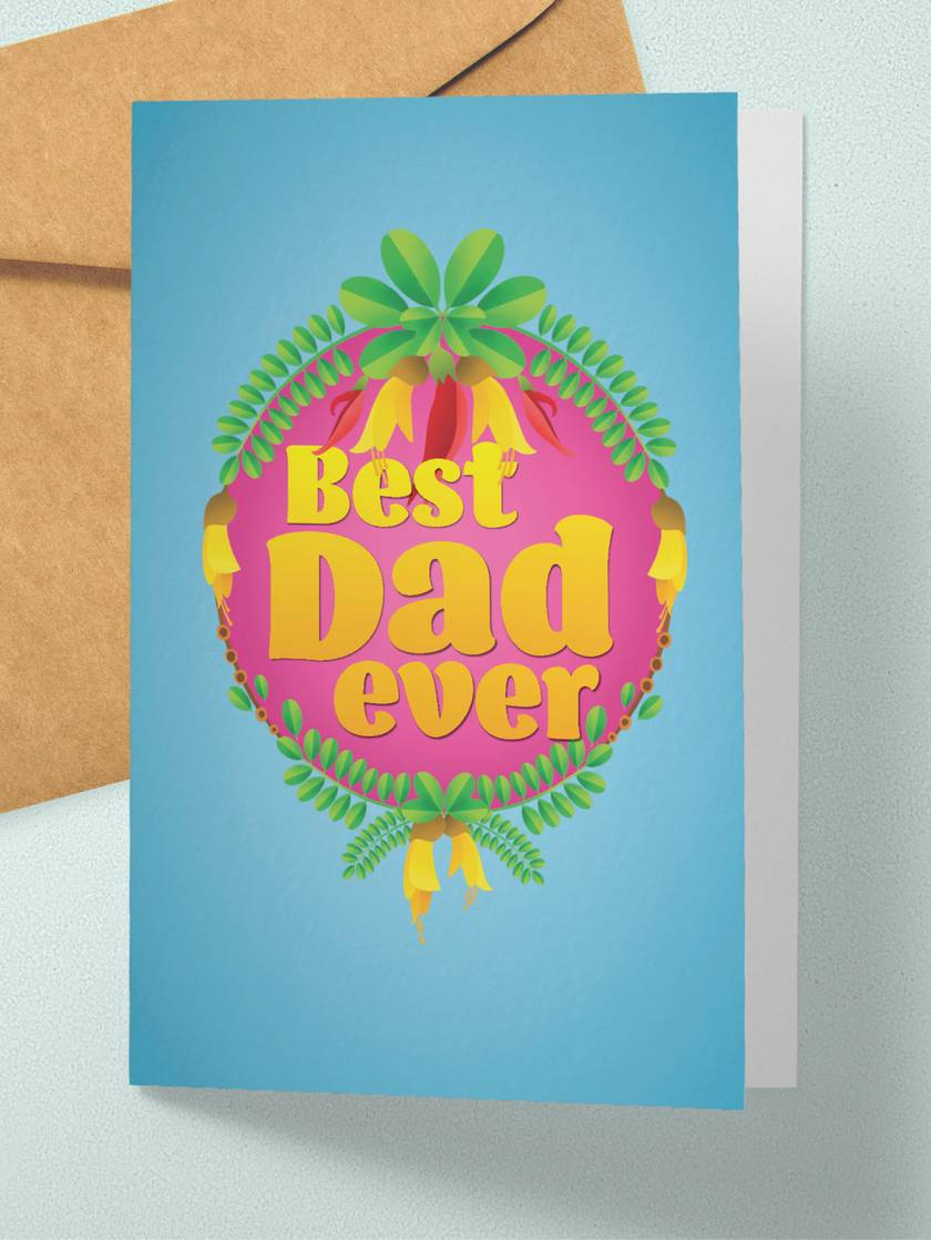 Best Dad ever - Fathers Day card