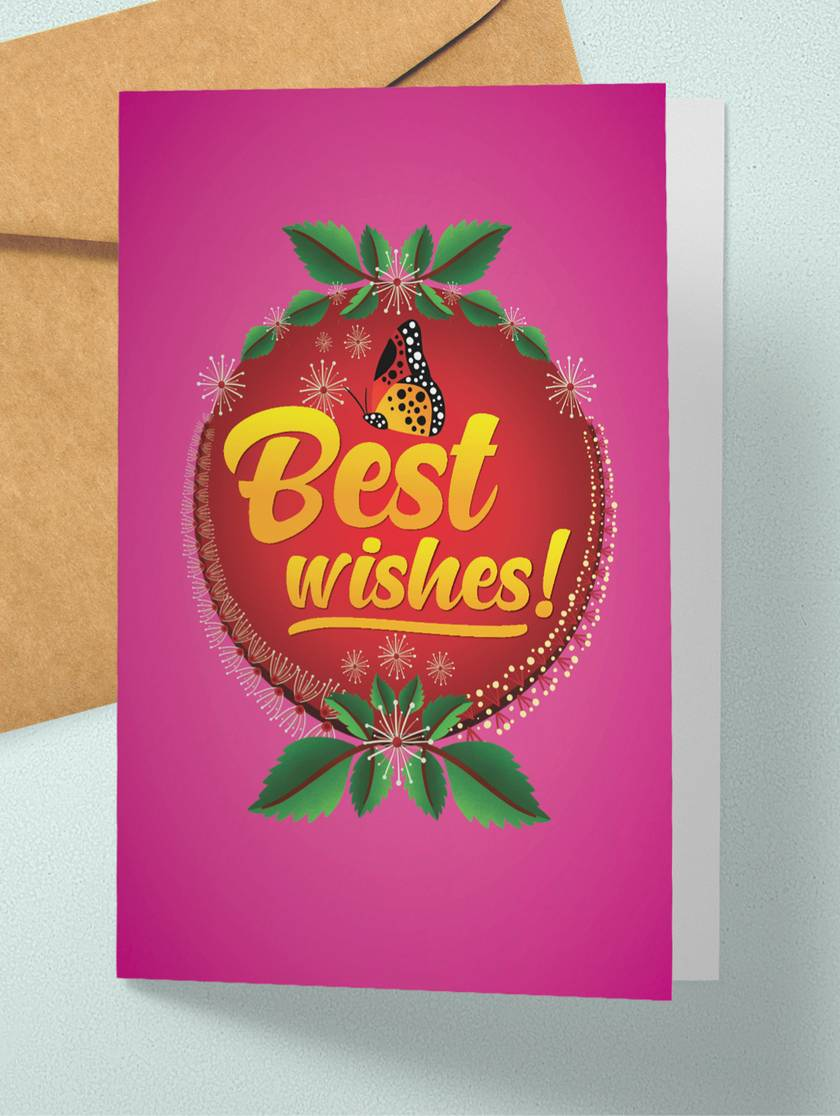 Best Wishes – A6 NZ Flora and Fauna Occasion Greeting Card