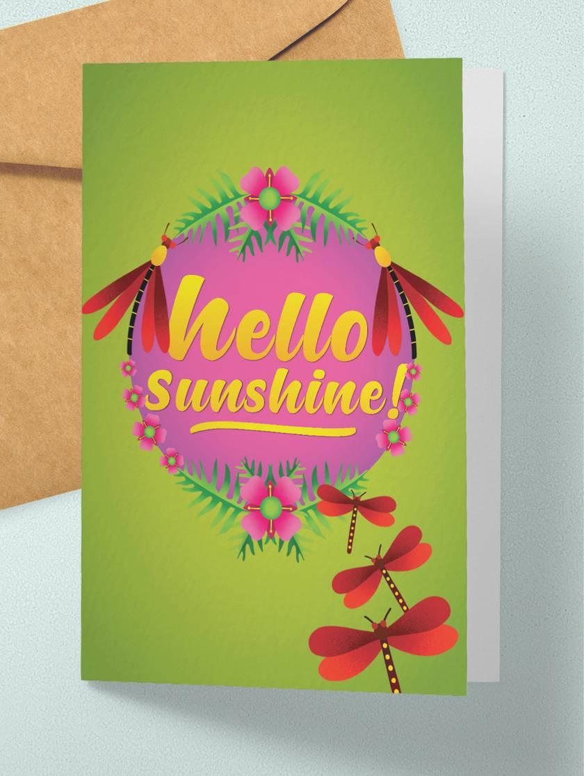 Hello sunshine – A6 NZ Flora and Fauna Occasion Greeting Card