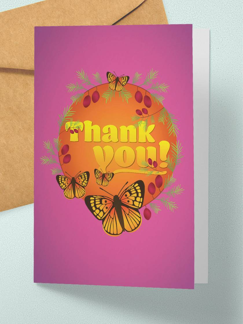 Thank you – A6 NZ Flora and Fauna Occasion Greeting Card