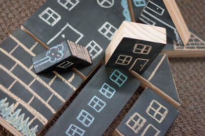 Chunky Chalkboard Blocks