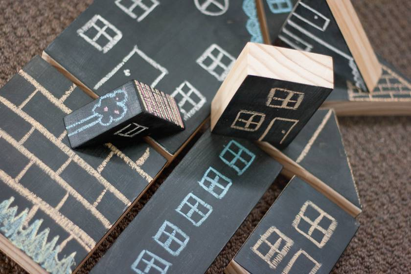 Chunky Chalkboard Blocks - MADE TO ORDER