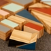 Wooden Building Blocks HALF set - Triangles (24 pieces) - MADE TO ORDER