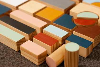 Wooden Building Blocks HALF set - Curves (23 pieces) - MADE TO ORDER