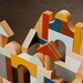 Wooden Building Blocks Set - Curves and Triangles (47 pieces) - MADE TO ORDER