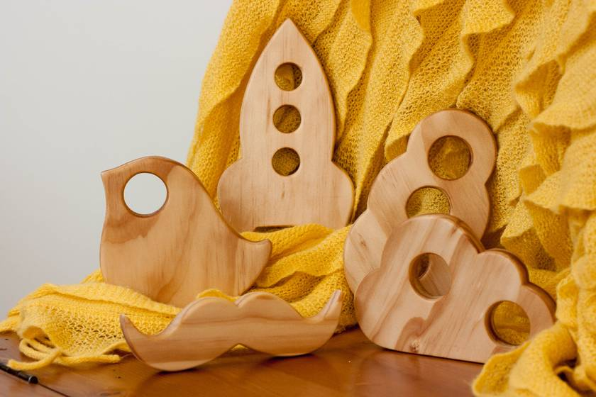 Wooden Teether - Spaceship!