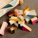 Wooden Block Trolley and Building Block Set (10 colours+ Natural finish) - MADE TO ORDER