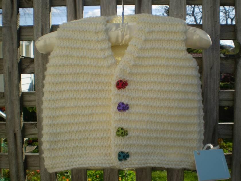 Cream vest/waistcoat & fun buttons