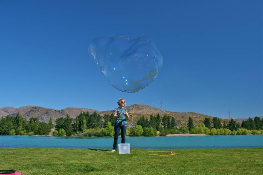 GIANT BUBBLES! NZ Handmade Giant Bubble On Kit (DOUBLE BUBBLE)