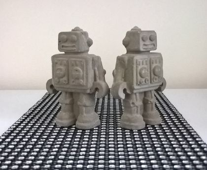 Decorative Concrete Robots