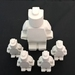 White Concrete Lego Man Set