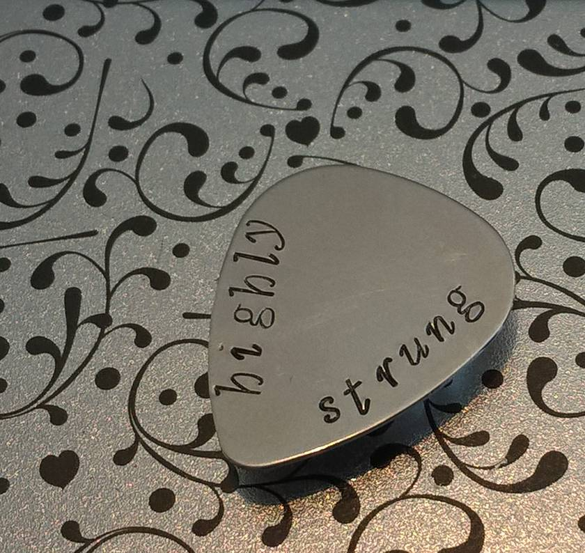 Hand Stamped Guitar Pick