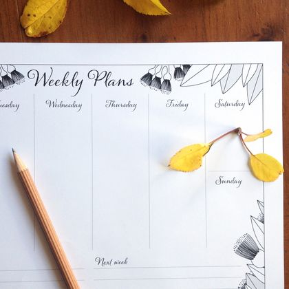 Printable Botanical Weekly Planner
