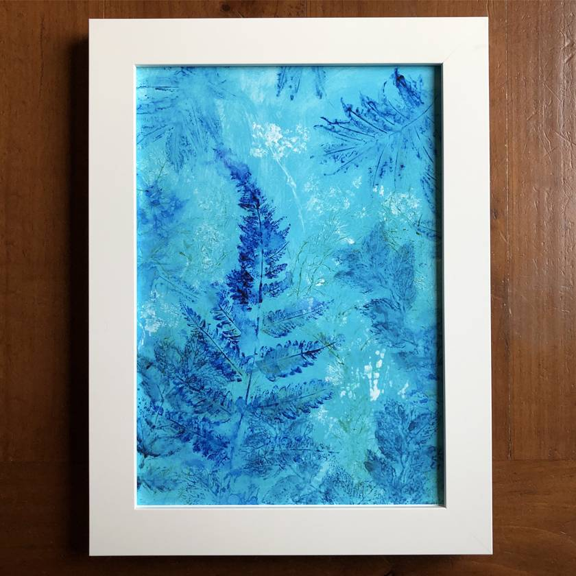 Blue Fern botanical fine art print