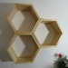 Deeper Hexagon Shelves  - Set of 3