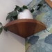 Curved Corner Floating Shelf - (Recycled Rimu)