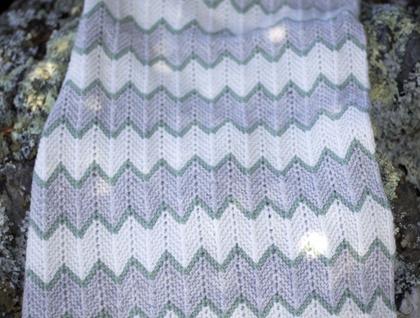 Stripe Seven Knit Blanket | AllFreeKnitting.com