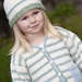 Peppermint Cream - Striped Cardigan with Patch Pockets and Hat - Little Cupcakes by lisaFdesign - LF02