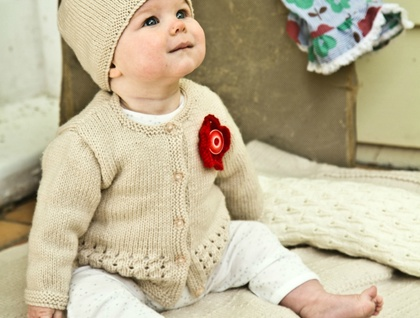 Indiana Cardi and Hat Pattern - Baby Cakes by lisaFdesign - Bc40