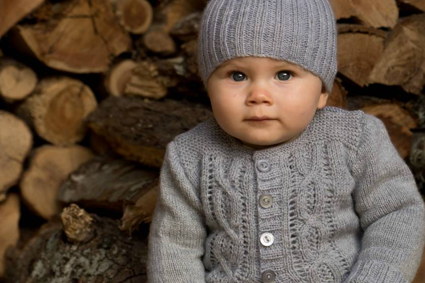 Jasper Cardi and Beanie - Baby Cakes by lisaFdesign- Bc55