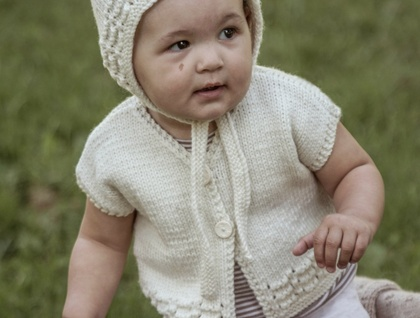 Ava Vest and Bonnet - Baby Cakes by lisaFdesign
