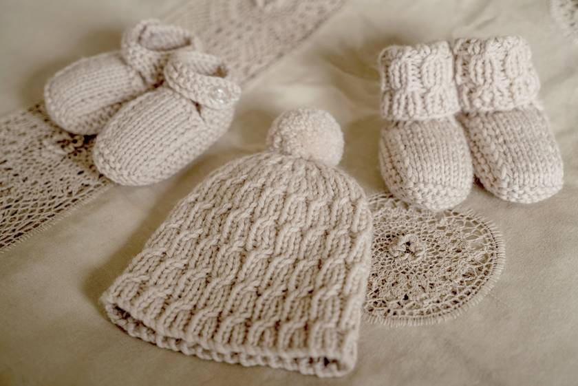 Scout Beanie with Boots and Shoes - Baby Cakes by lisaFdesign