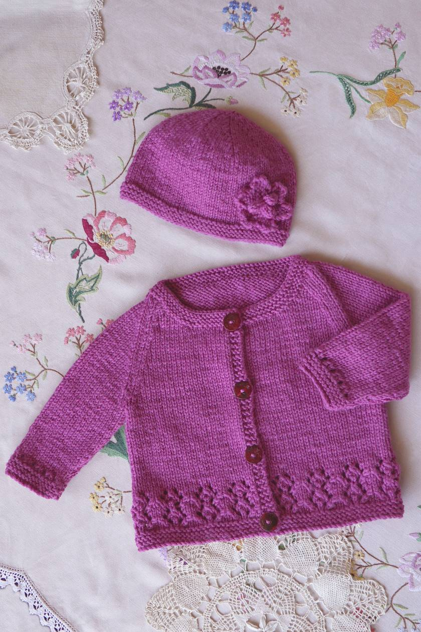 Harriet Cardi and Hat - Baby Cakes by lisaFdesign