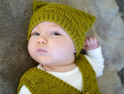 Theodore Vest and Hat - Baby Cakes by lisaFdesign
