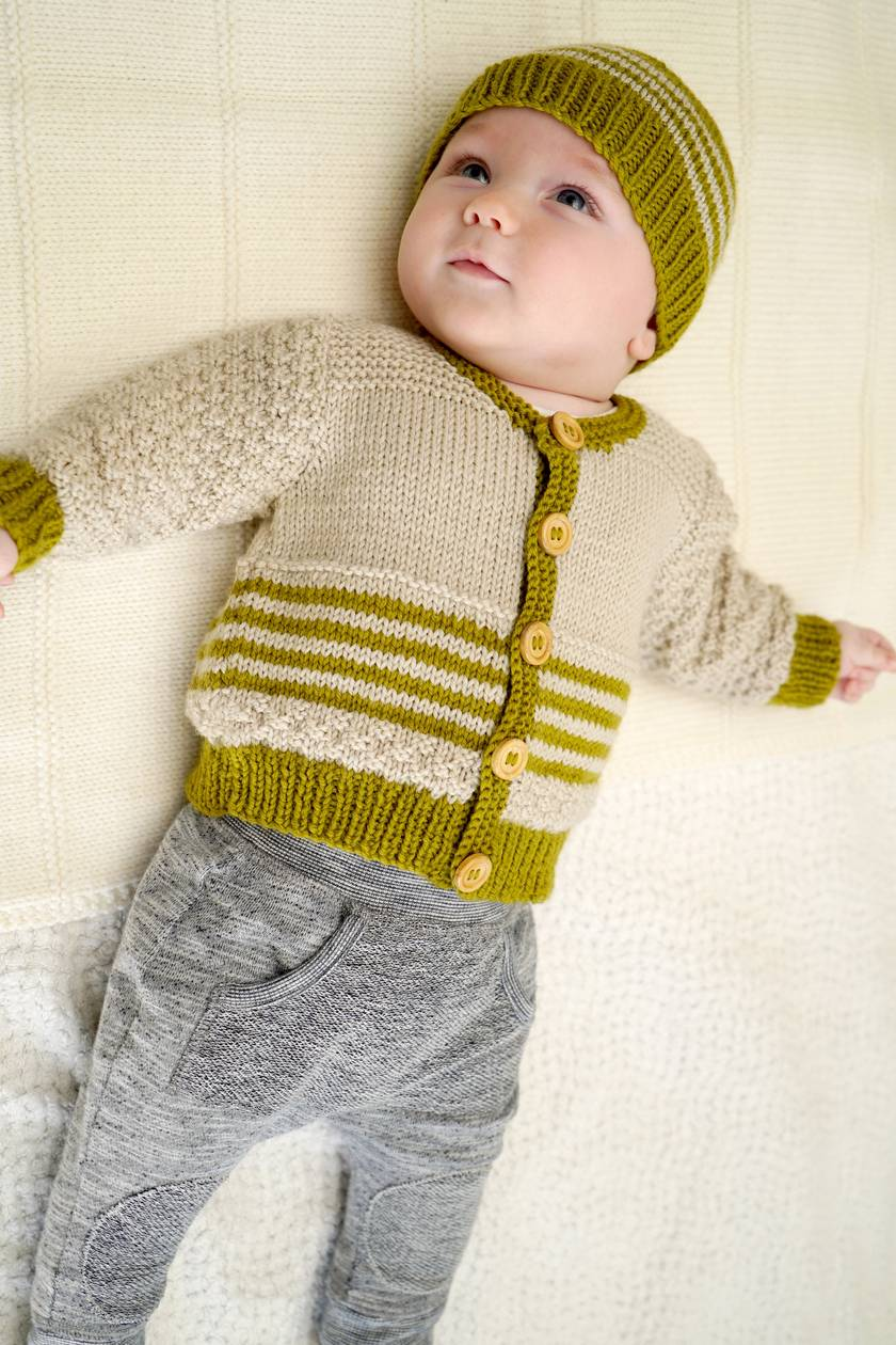 Eden Cardi and Hat Pattern - Baby Cakes by lisaFdesign - Bc70