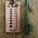 Kakaruwai - South Island Robin Needle Gauge and Ruler