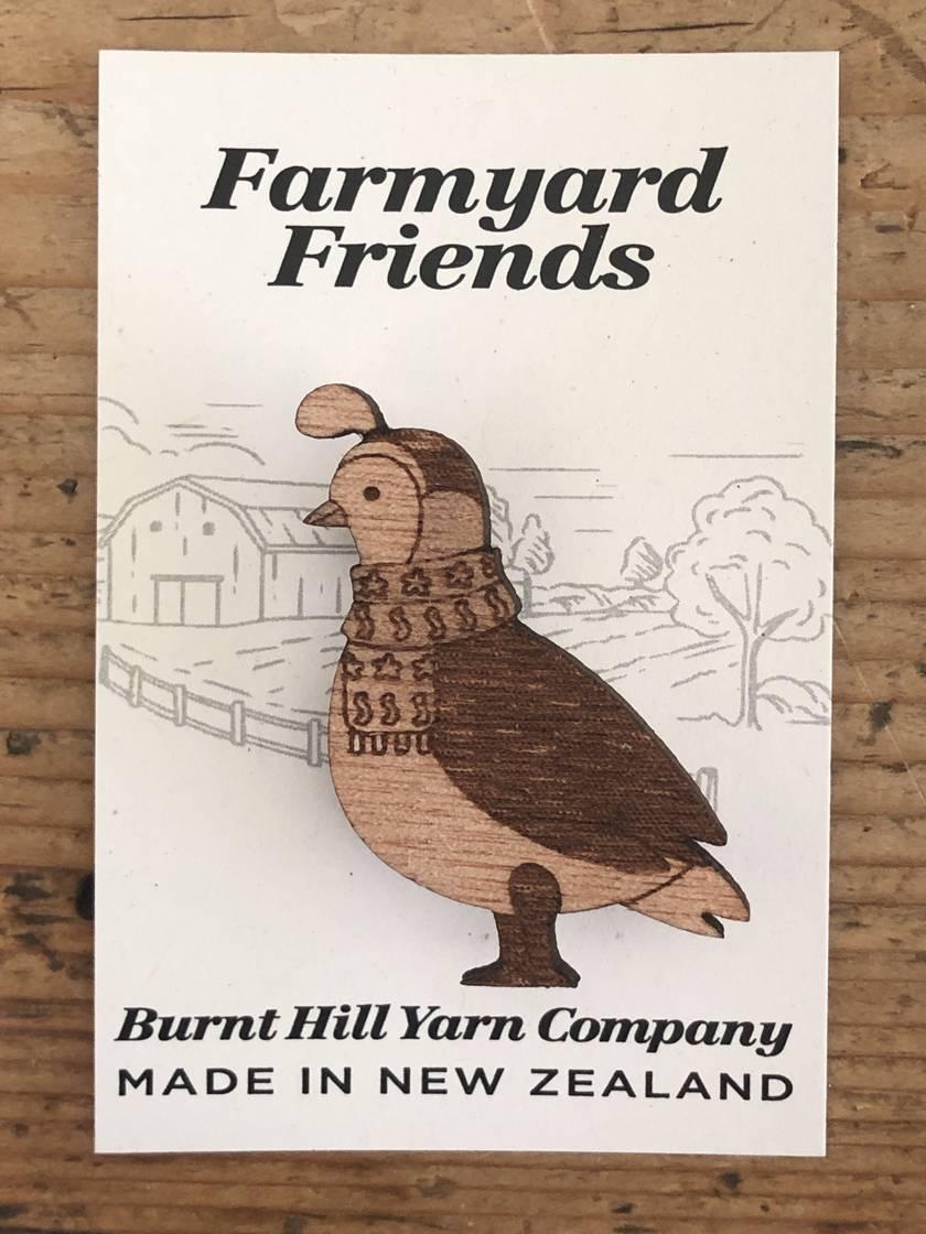 Farmyard Friends - Quail Pin
