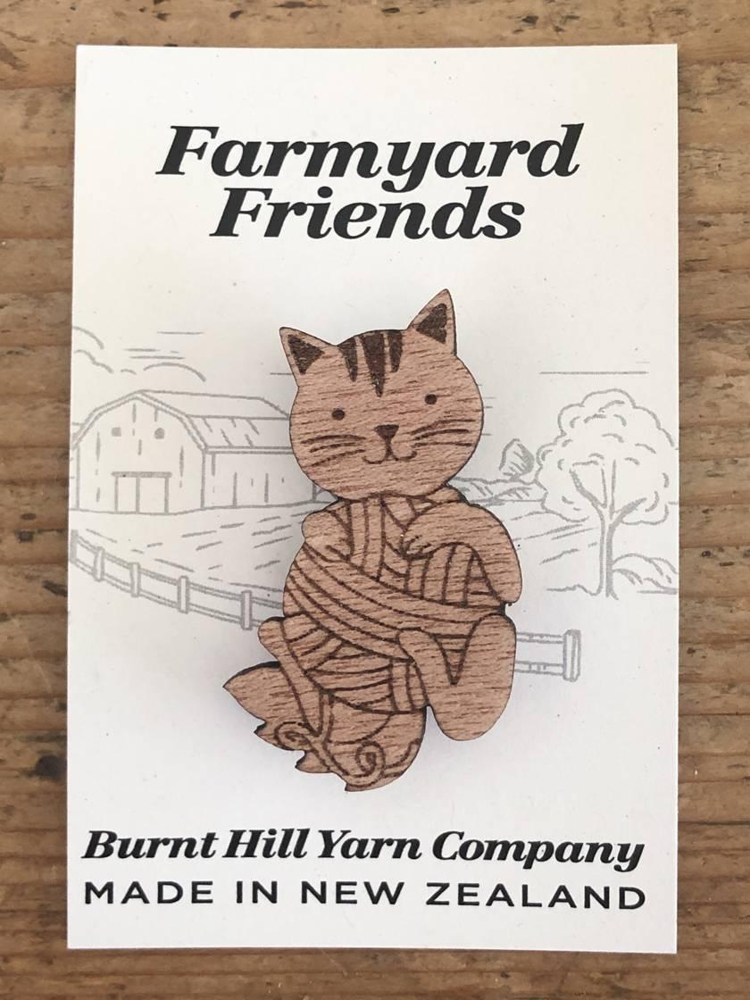 Farmyard Friends - Cat Pin