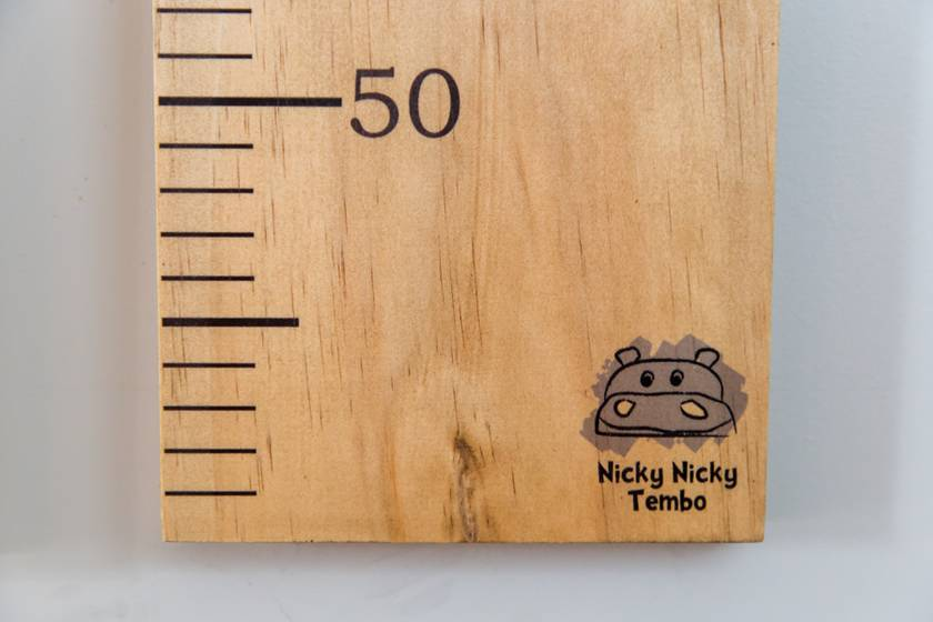 Unpersonalised Wooden Height Chart