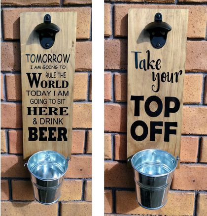 Bar Sign with Bottle Opener