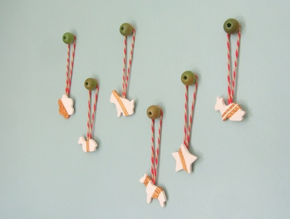 IttyBitty Ceramic Christmas Tree Ornaments - Set 2