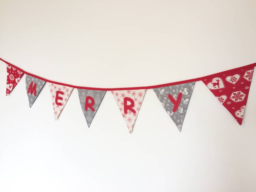 "Gorgeous 3.5metre ""Merry Christmas"" Bunting"