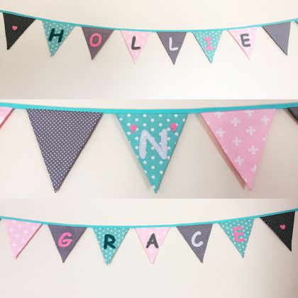 CUSTOM-MADE LETTERED BUNTING - go crazy!!