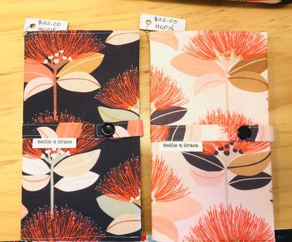 Beautiful Pohutukawa Fabric Notebook Covers - with 3B1 size notebook included