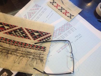 Needlework Kit-Maori Taniko #3