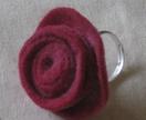 Felt rose ring