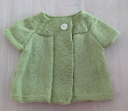 Daisy Swing Cardigan with Capped Sleeves....100% Pure Wool..... Handmade in New Zealand