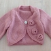 Beautiful Rose Cardigan ...100% Pure Wool... Handmade in New Zealand