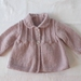 Vintage Lilac Collared Cardigan.....100% Pure wool..... Hand Knitted in New Zealand