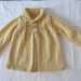 Vintage Buttery Yellow Collared Cardigan.....100% Pure wool..... Hand Knitted in New Zealand
