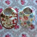 Bibs! Bibs! Bibs!- dribble bib - new born to 3 month - Floral - Lace - New Zealand - Handmade