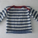 Beautiful Pure Wool Striped Sailor Sweater.... Handmade in New Zealand