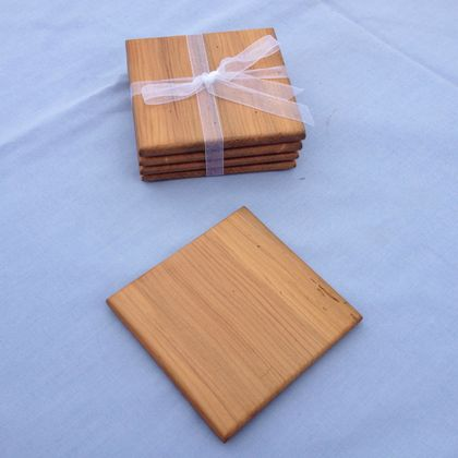 NZ Recycled Totara Wooden Coasters - Free Shipping within NZ