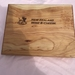 Microcapa Chopping/Serving Board etched with NZ Wine&Cheese 250x200x50mm - Free Freight Nationwide NZ